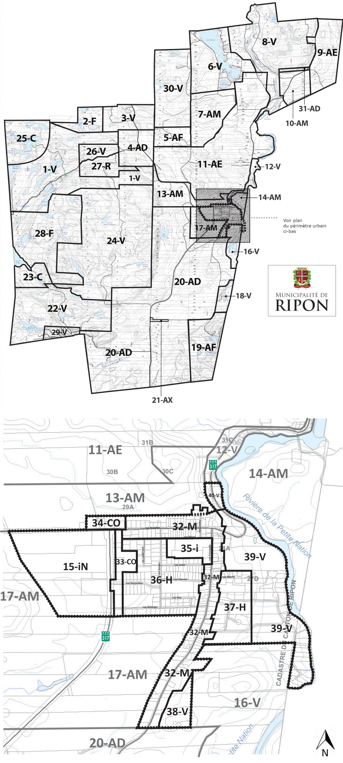 Municipalité de Ripon – Plan de zonage
